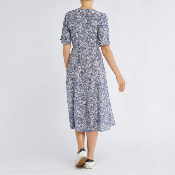 Annika Dress | Linear Floral