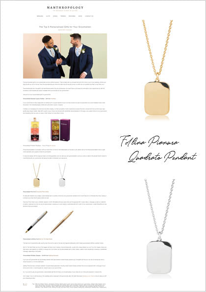 Sif Jakobs Jewellery Follina Halskette in Mantropology - Gold und Silber - Gravur