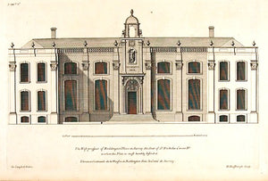The east, and the west prospect of Beddington Place, elevations