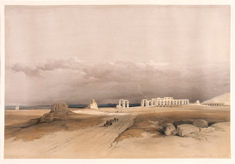 Ruins of the Memnonium, Thebes, Dec 5th 1838