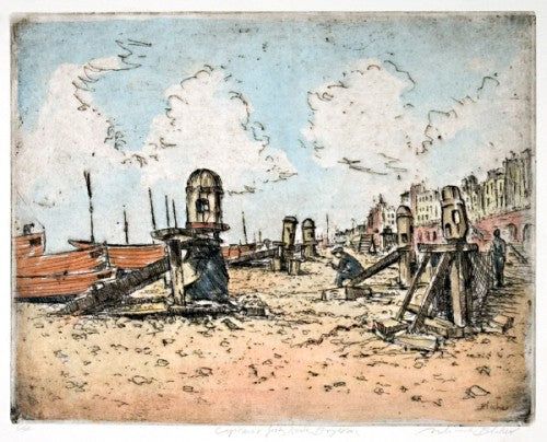 Capstains and fishing boats, Brighton