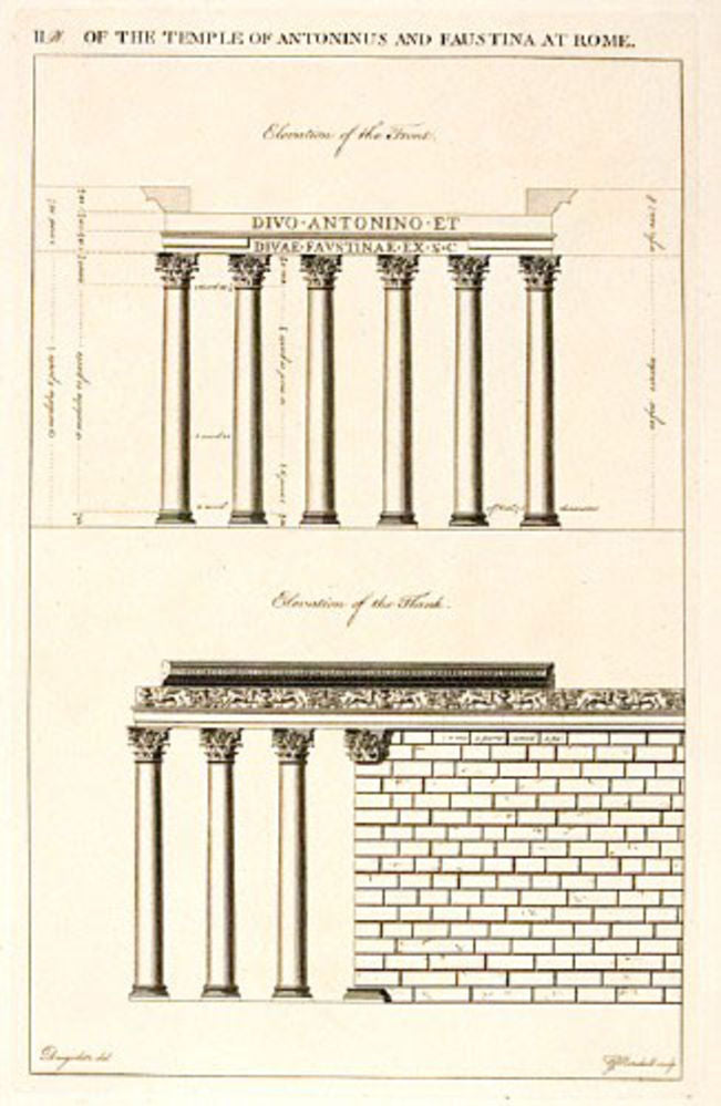 The Temple of Antoninus and Faustina at Rome, plate II