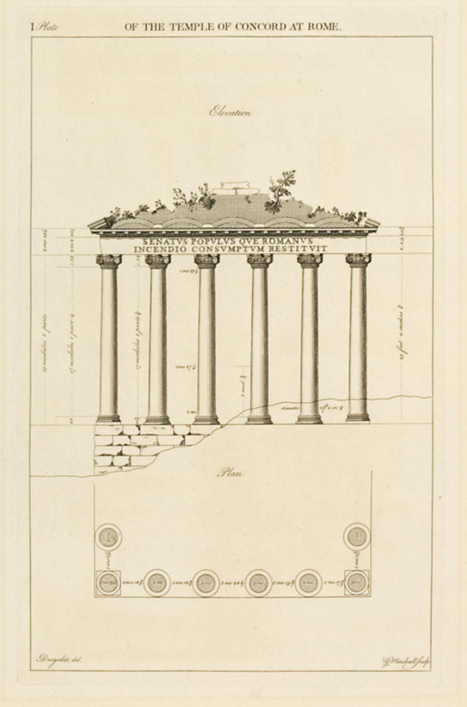 The Temple of Concorde at Rome, plate I