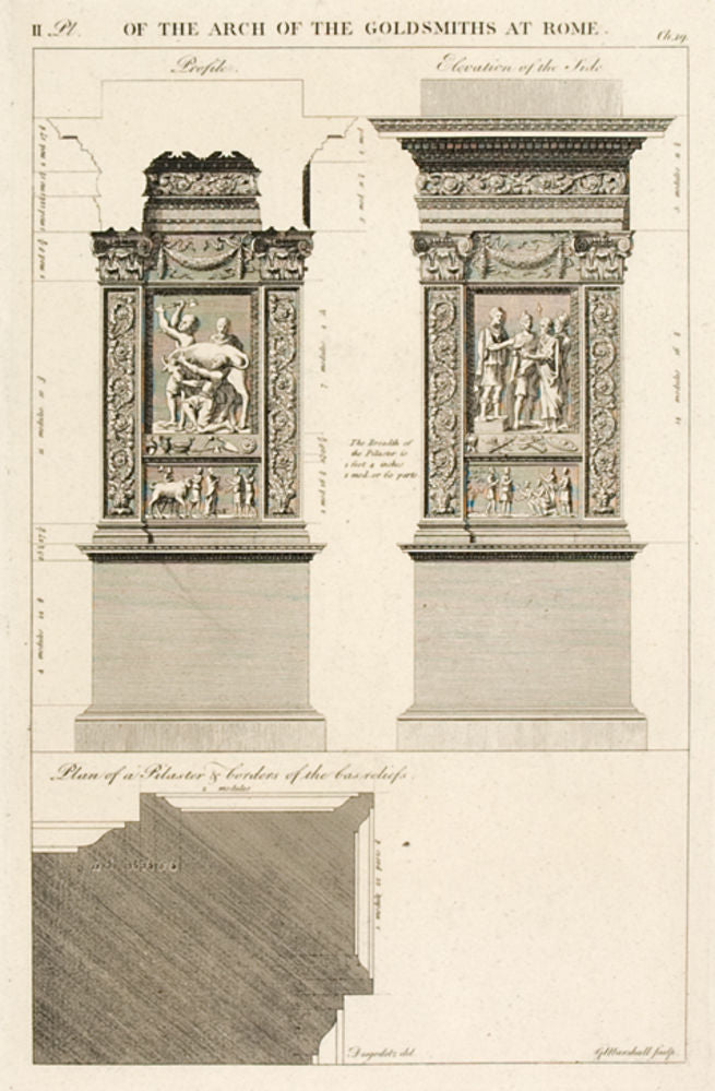 The Arch of the Goldsmiths at Rome, plate II