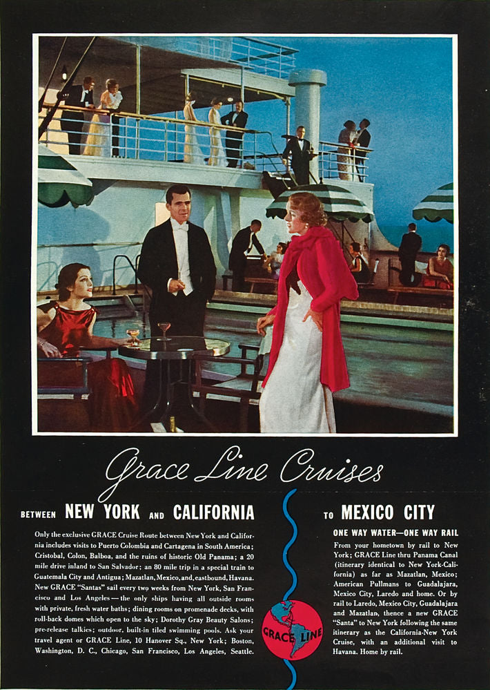 Grace Line Cruises: New York and California to Mexico City