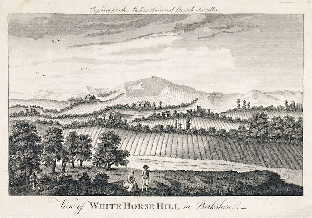 View of White Horse Hill in Berkshire