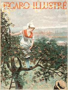 Figaro Illustre. [Woman climing a tree