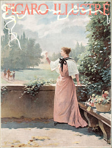 Figaro Illustre. [Woman with a white handkerchief