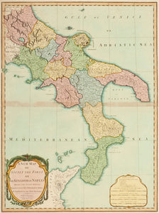 A New Map of Sicily the First or the Kingdom of