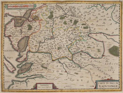 Carte du Pais de Xaintonge. (Map of Western France