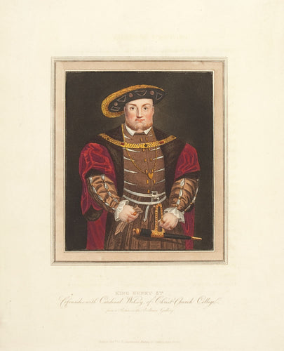 King Henry 8th. Cofounder with Cardinal Wolsey, of Christ Church College