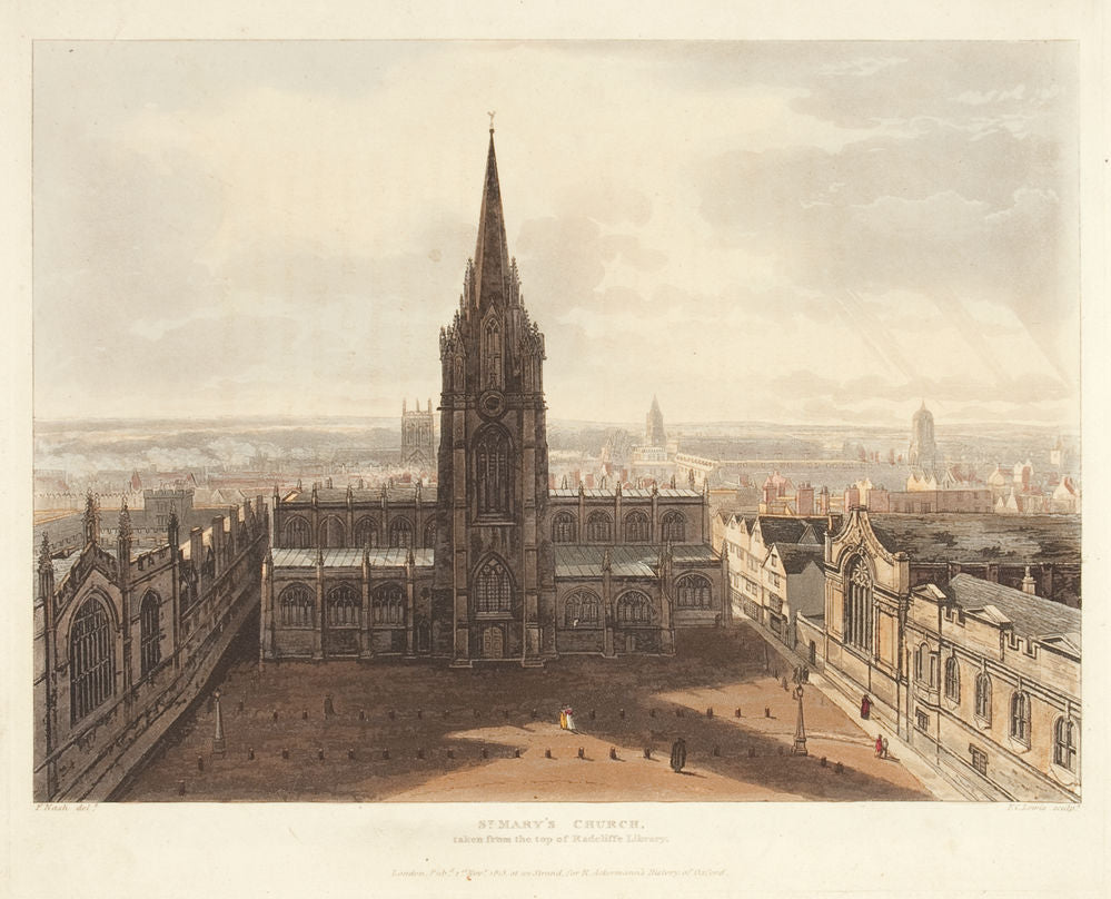 St. Mary's Church, taken from the top of Radcliffe Library
