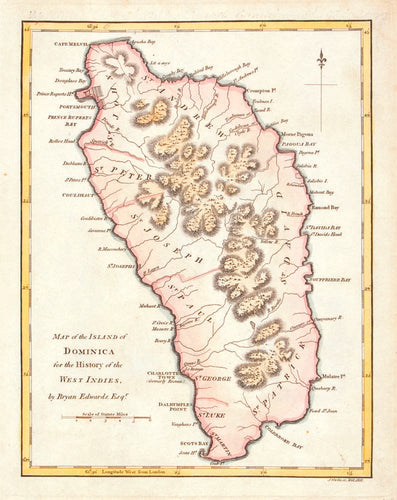 Map of the Island of Dominica