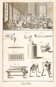 Aiguillier, Aiguiller-Bonnetier, Amydonnier (Needle Maker, Needle-Cap Maker & Starch Maker