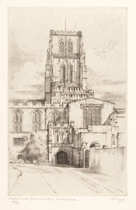 Central Tower from College Green, Durham Cathedral