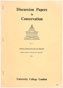 Discussion Papers in Conservation No.7: A Nature Conservation Plan for
