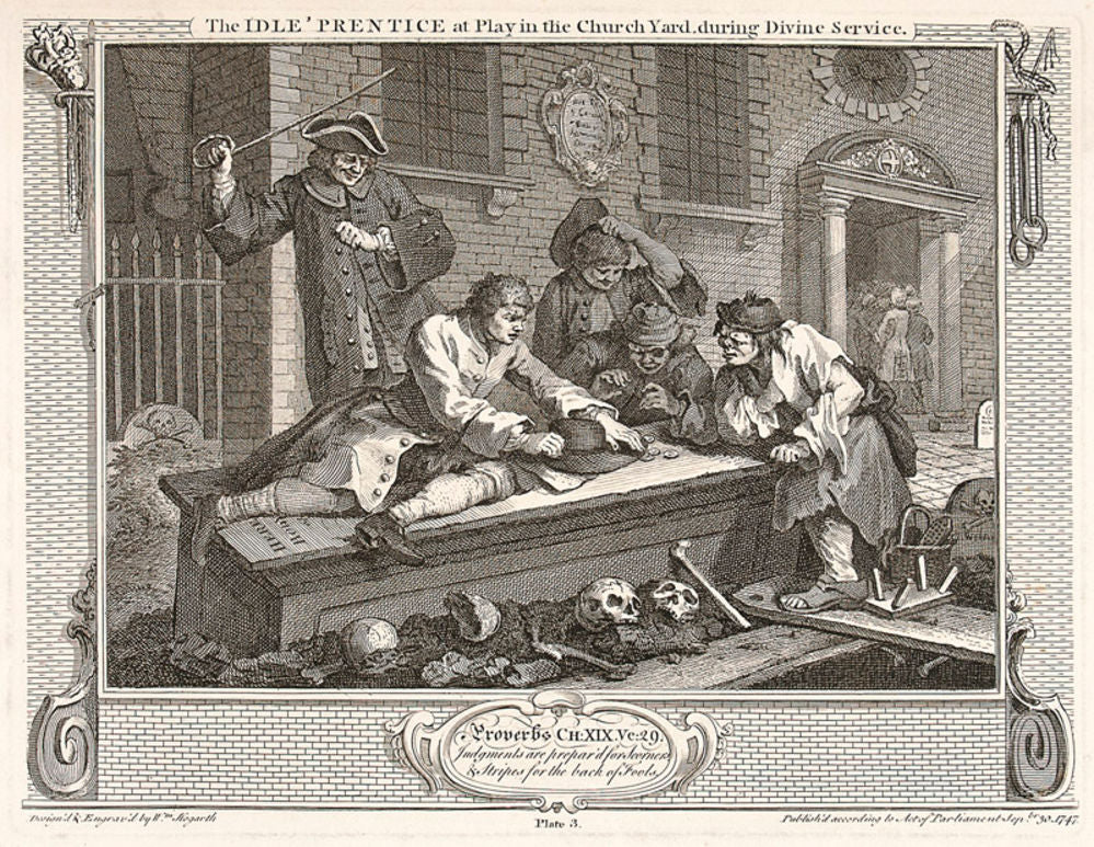 The Industrious 'Prentice at Play in the Church Yard. Plate 3