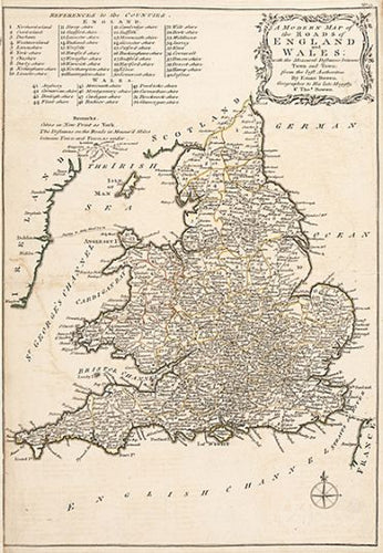 A Modern Map of the Roads of England and Wales