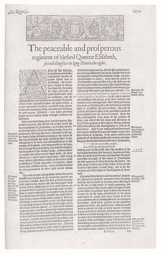 The Peaceable and Prosperous Regiment of Blessed Queene Elisabeth: a Facsimile