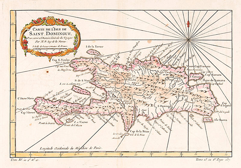 Carte de l'isle de Saint Domingue. (Map of the Dominican Republic