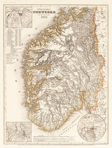 Sudliches Norwegen nach Carpelan, 1849. (Map of Southern Norway