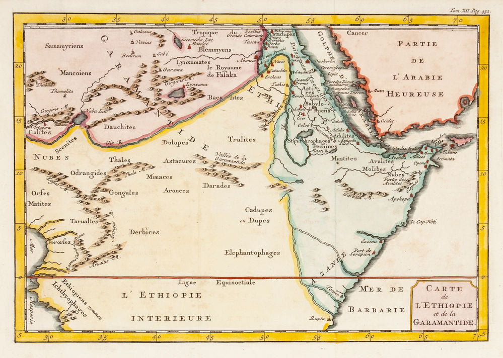 Carte de L'Ethiopie et de la Garamantide. (Map of Ethiopia