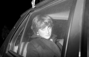 Princess Margaret's 50th birthday party at the Ritz. Lady Diana Spencer