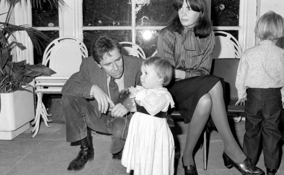 Lord Anthony Snowdon with his daughter Lady Frances Armstrong-Jones. March