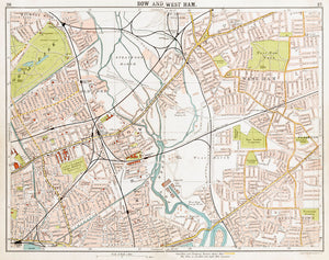 Map of Bow and West Ham