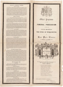 Official Programme of the Funeral Procession of the Late Field Marshal