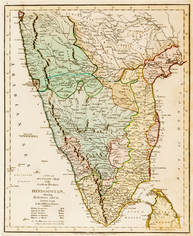 A New and Accurate Map of the Southern Provinces of Hindoostan