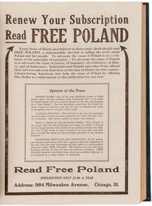 Free Poland. A semi-Monthly. The Truth About Poland and Her