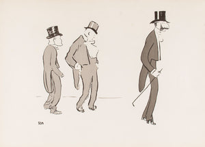 Three Gentlemen in Top Hats