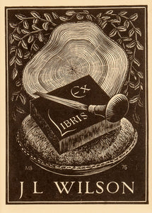 Engraved Bookplate for James Wilson