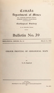 Colour Printing of Geological Maps