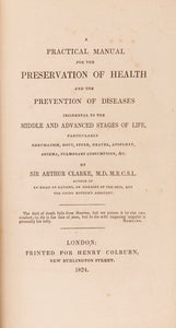 A Practical Manual for the Preservation of Health and the Prevention