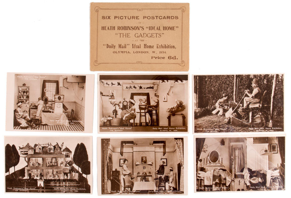 The Gadgets [Six Picture Postcards of Heath Robinson's Ideal Home