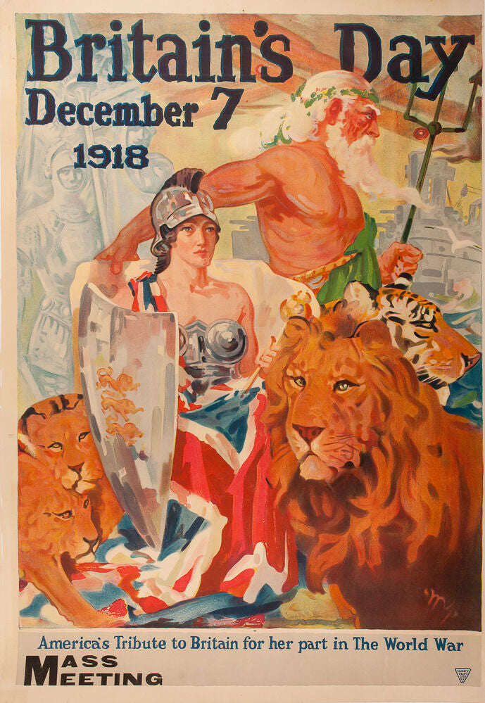 Britain's Day, December 7, 1918. America's Tribute to Britain for her