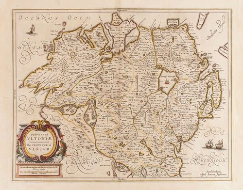 Provincia Ultoniae, The Province of Ulster. (Northern Ireland