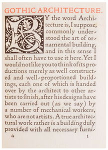 Gothic Architecture. A Lecture For The Arts And Crafts Exhibition Society