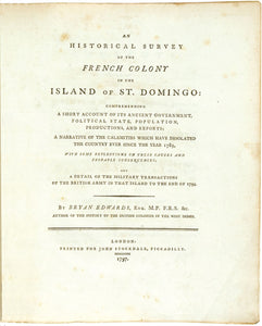 An Historical Survey of the French Colony in the Island of