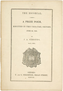 The Escorial.  A Prize Poem, Recited in the Theatre, Oxford.  June