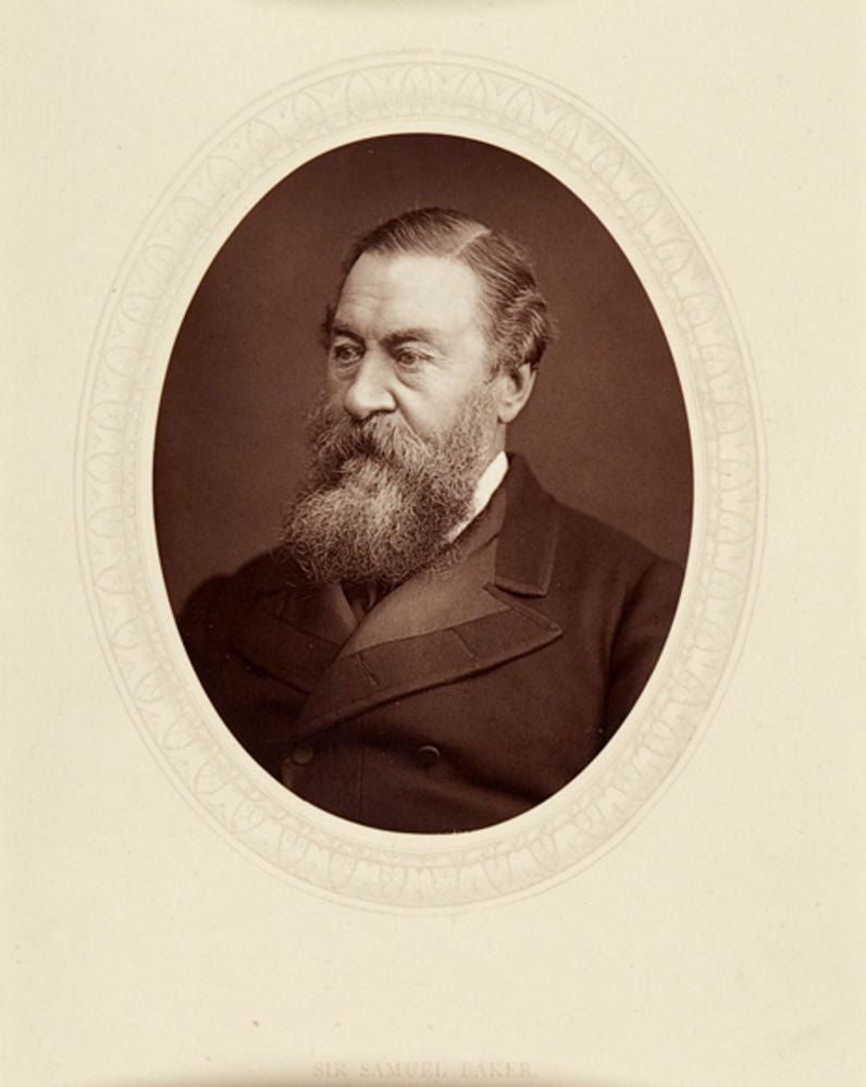 Sir Samuel Baker', mounted woodburytype photographic portrait