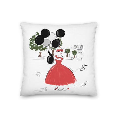 Balloons in the Park Premium Pillow 18x18 22x22