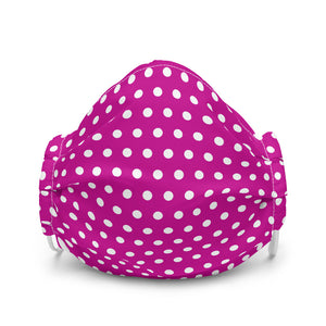 Fuchsia & White Polkadot Face Mask