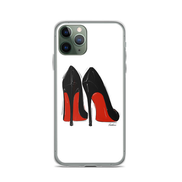 Little Black Red Bottoms iPhone Case