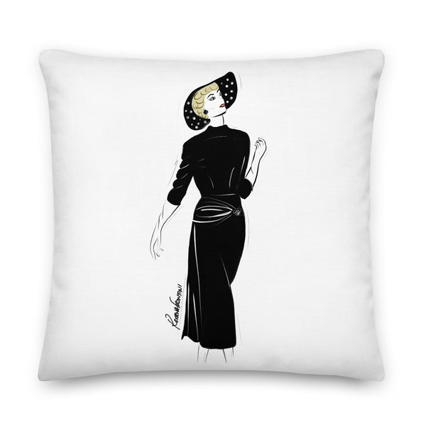Timeless in Black Premium Pillow 22x22