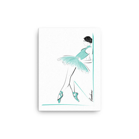 Ballerina in Aqua Canvas
