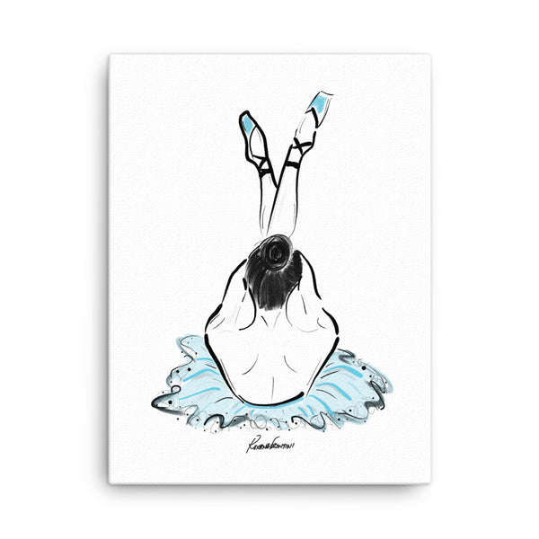 Ballerina in Blue Canvas