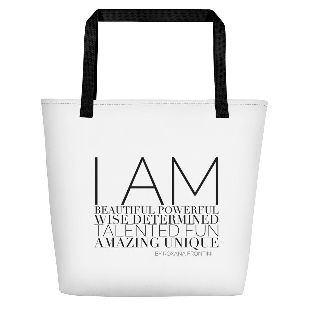I AM by ROXANA FRONTINI Beach Bag